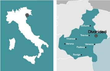 Карта на италия и Divanidea