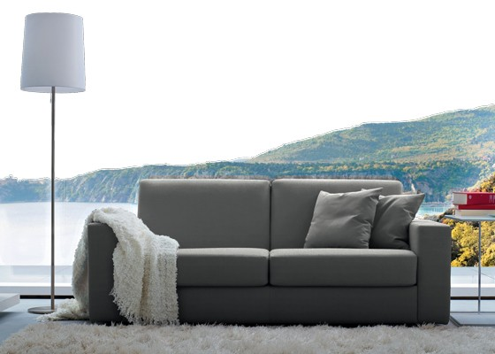 Италиански диван Zeus със сменяема дамаска и вграден механизъм за легло