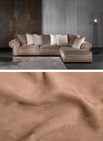 Мека мебел от диванидеа от висококачествена кожа набук